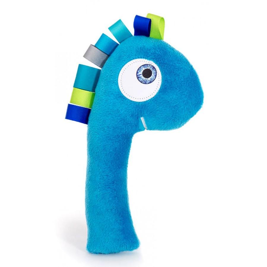 Hochet dino le rigolo les tronches jouets pour b b dinosaure bleu gar on peluche fait au - Dinosaure rigolo ...