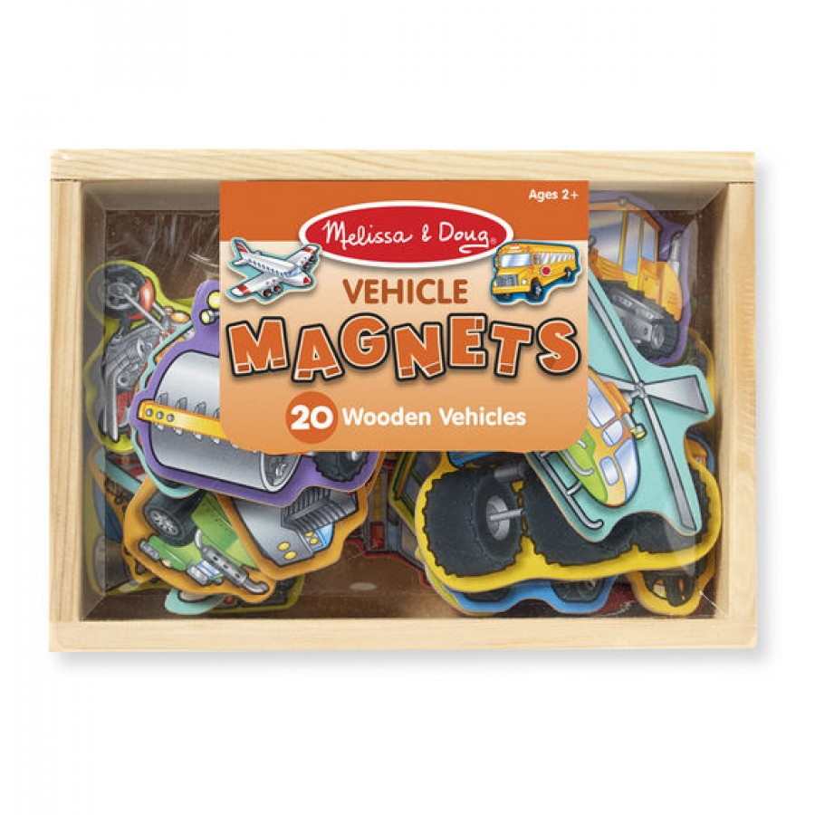 wooden vehicles magnets melissa doug. Black Bedroom Furniture Sets. Home Design Ideas