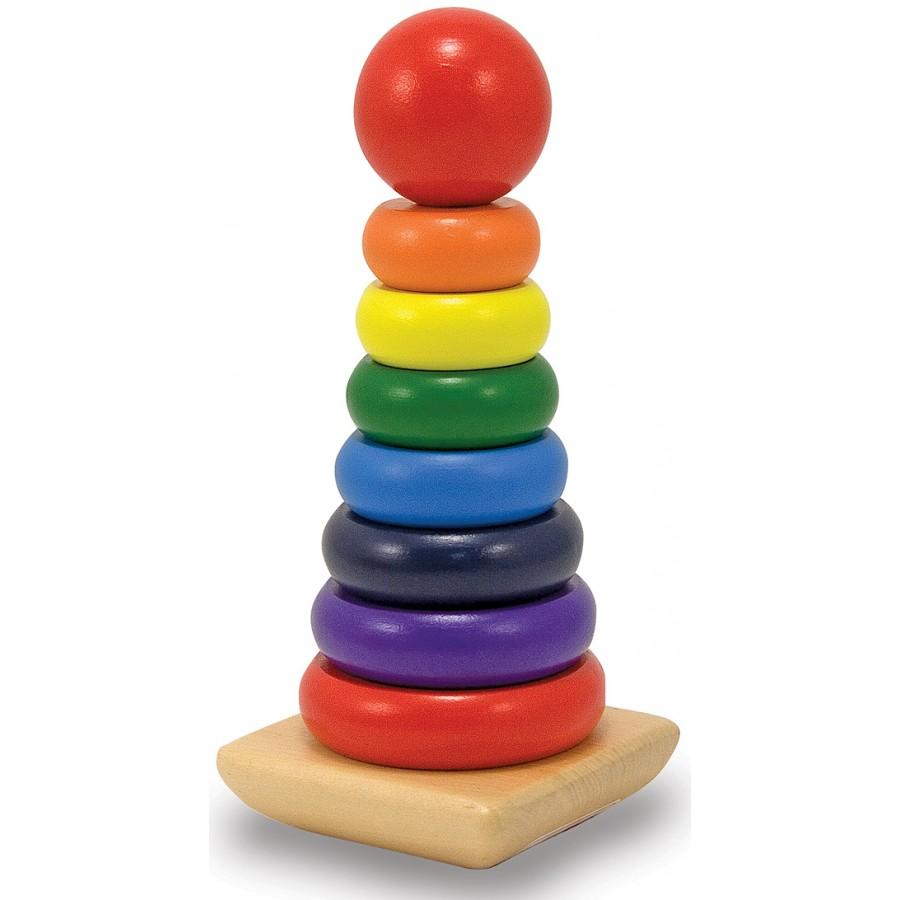 anneaux empiler arc en ciel empilables jouet bois garcon fille bebe couleurs cpe garderie. Black Bedroom Furniture Sets. Home Design Ideas
