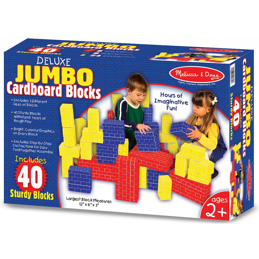 blocs g ants en carton jouets jeux enfants construction jumbo carton cpe garderie julie. Black Bedroom Furniture Sets. Home Design Ideas