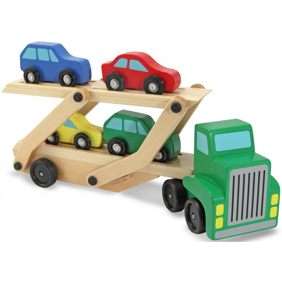 camion transporteur de voitures en bois jouets en bois. Black Bedroom Furniture Sets. Home Design Ideas