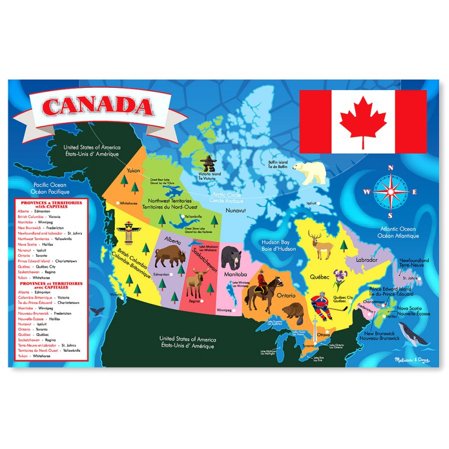 Map Of Canadas 3 Territories.Giant Puzzle Canada Map