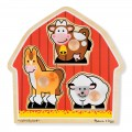 Large Peg Puzzle - Barnyard Animals