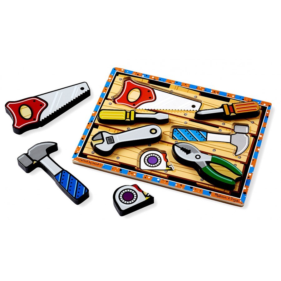 les outils casse t te 7 grosses pi ces en bois morceaux pais gros facile premier puzzle. Black Bedroom Furniture Sets. Home Design Ideas