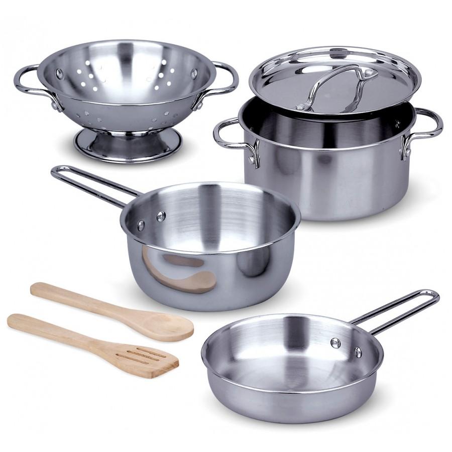 Casseroles et chaudrons pour enfants en acier inoxidable for Nettoyer exterieur casserole inox