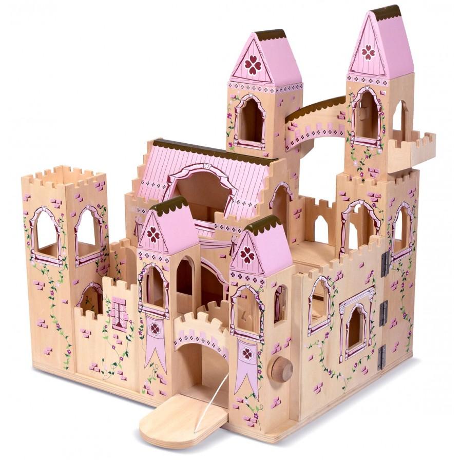 Ch teau de princesse g ant jouet en bois de r ve rose - Noel fille 8 ans ...