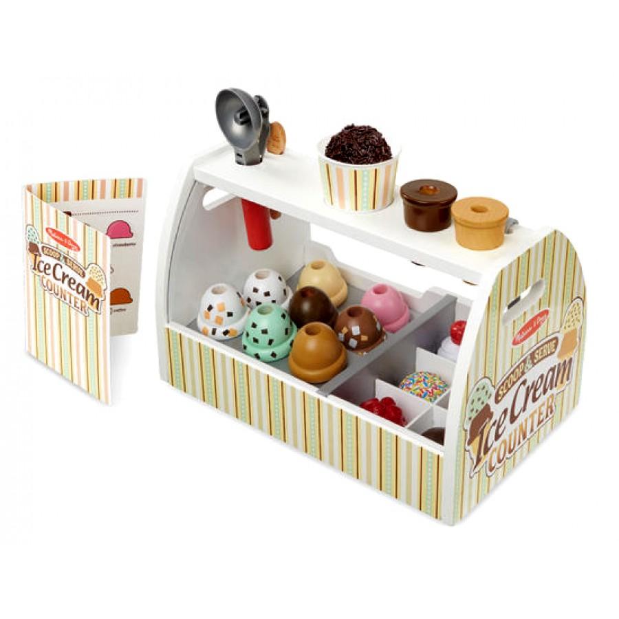 comptoir à crème glacée en bois - jouet, nourriture, dessert