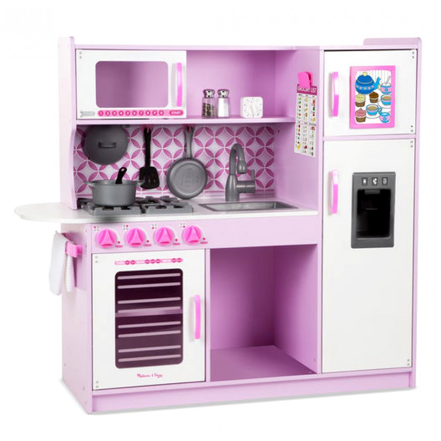 cuisinette pour enfants en bois rose et blanc melissa doug cuisine four r frig rateur. Black Bedroom Furniture Sets. Home Design Ideas