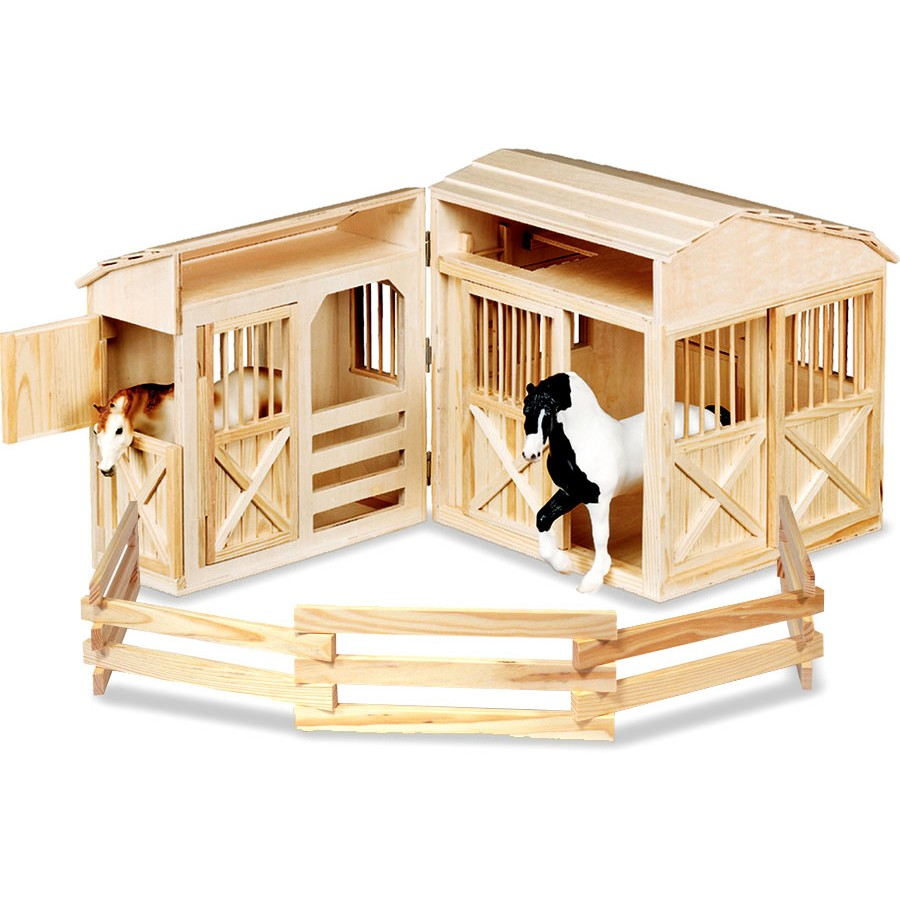 grande curie en bois pliante table chevaux cheval stalle jouet jeu melissa doug enfants. Black Bedroom Furniture Sets. Home Design Ideas