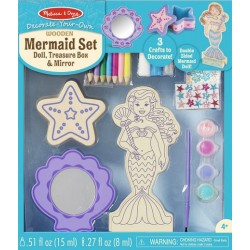 Decorate your own wooden Mermaid Set