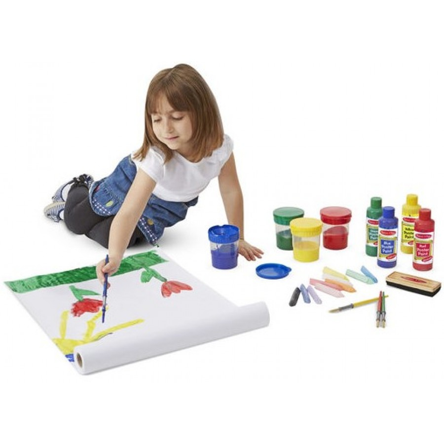 Easel Accessory Set Melissa Doug Paint Cups Brushes Paper