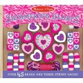 Sparkling Hearts Wooden Bead Set