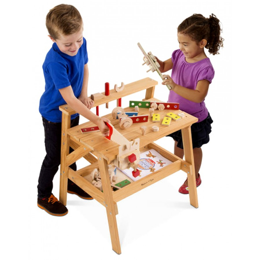 Tabli en bois pour enfants jeux jouets outils construire gar ons cpe - Construire etabli bois ...
