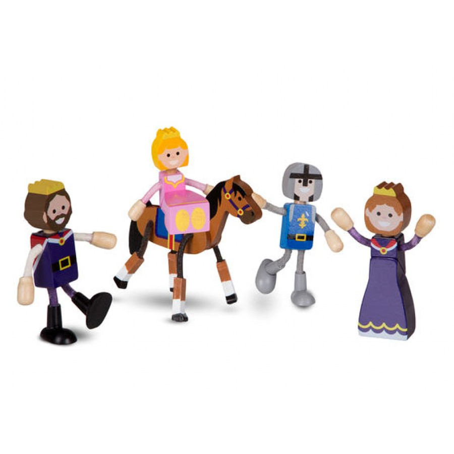 Royal Family Wooden Doll Set Princess Castle Pink Girl Melissa Doug