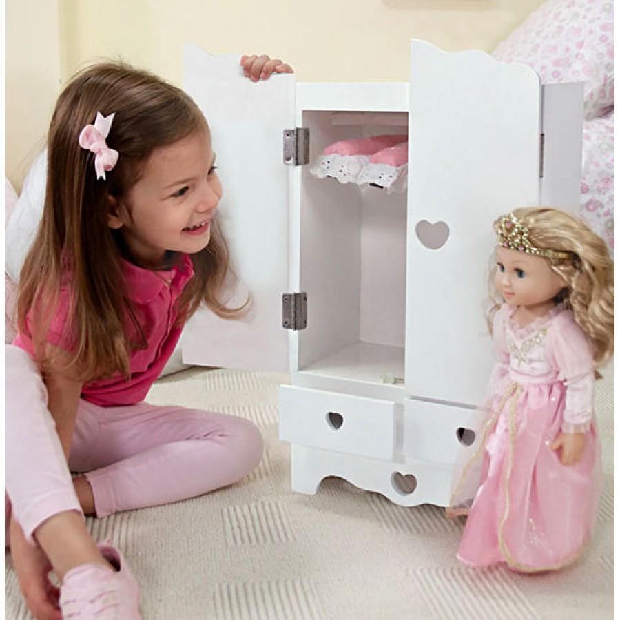 Meuble De Rangement Pour Garderie garde-robe en bois, poupée, enfants, bébés, melissa & doug