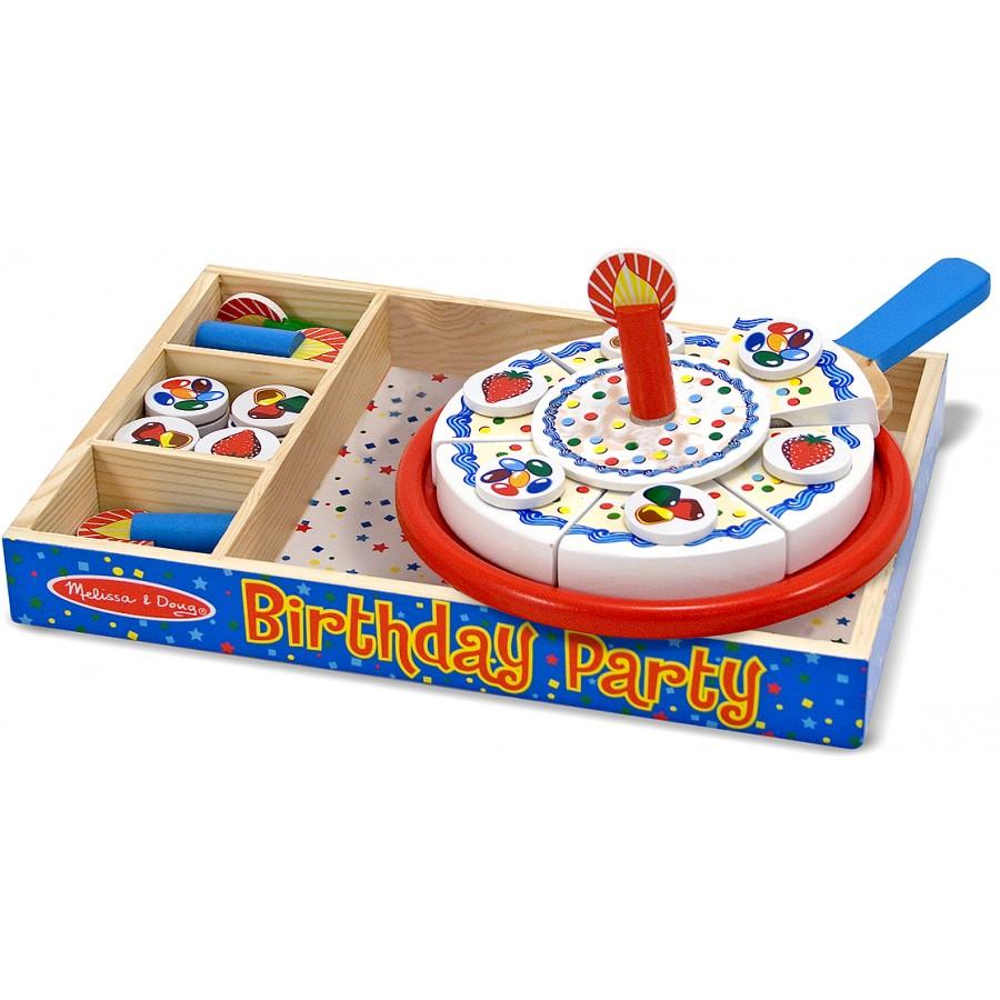 Gâteau d'anniversaire à trancher, fête-melissa--doug ...