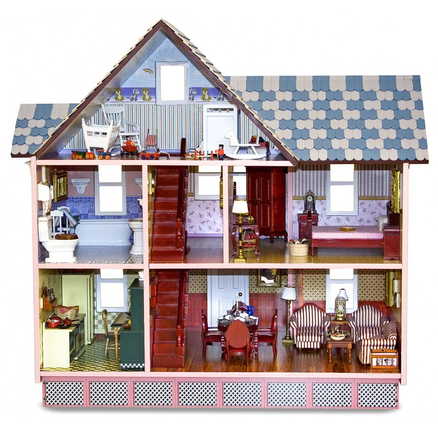 inside victorian dollhouse the image kid has it. Black Bedroom Furniture Sets. Home Design Ideas