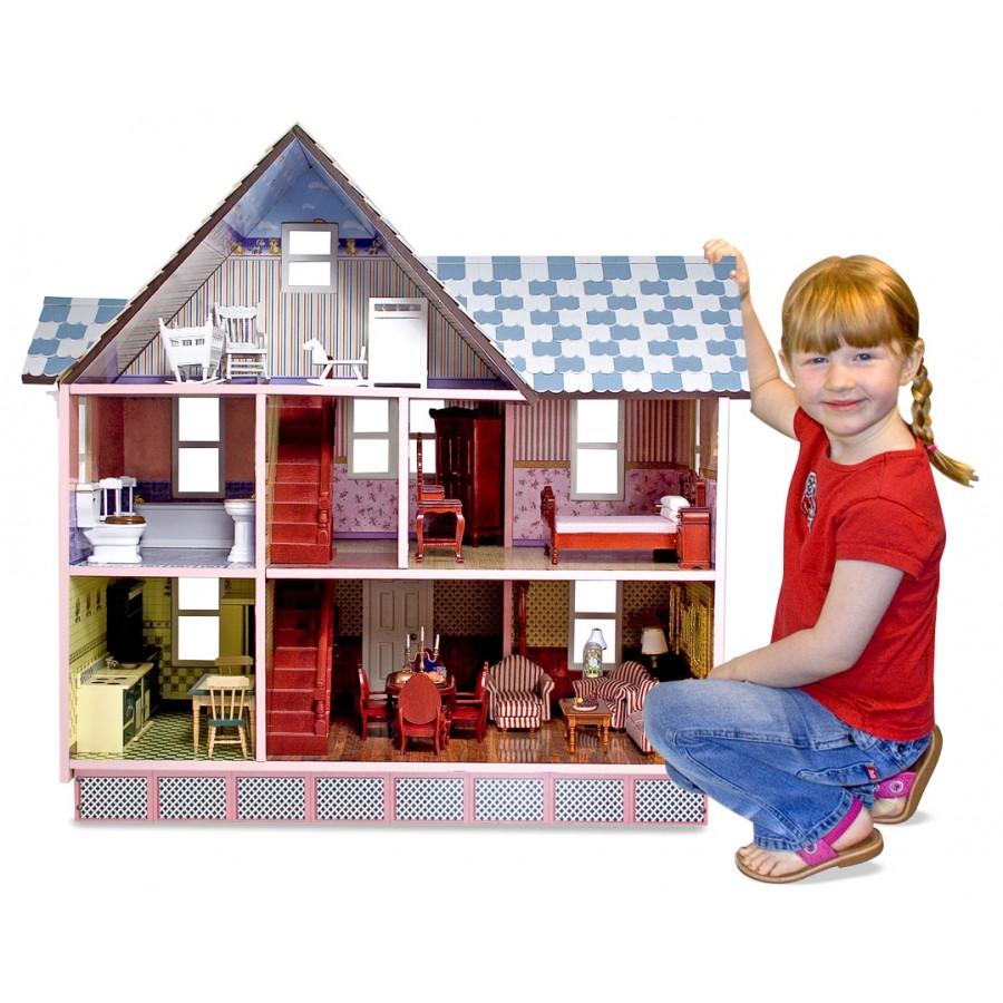 Maison poup e victorienne rose princesse de reve rose fille jouet fillette maison poupee 6 7 8 9 - Idee cadeau noel fille 8 ans ...