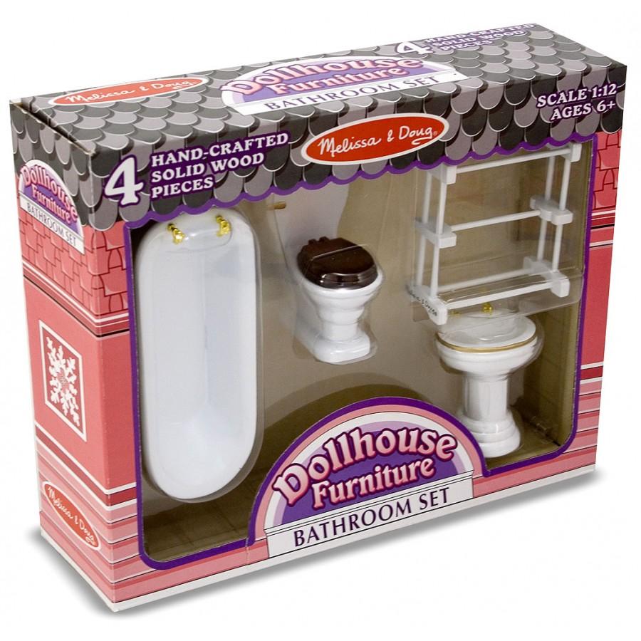 meuble de salle de bain pour maison de poup e victorienne rose princesse reve fille jouet. Black Bedroom Furniture Sets. Home Design Ideas