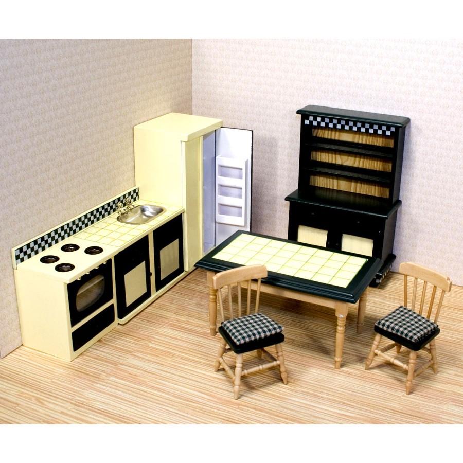 meuble de cuisine pour maison de poup e victorienne rose princesse fille jouet fille. Black Bedroom Furniture Sets. Home Design Ideas