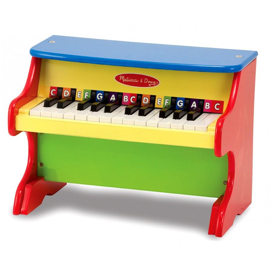 piano multicolore en bois jouets enfants instruments musique melissa doug cpe garderie. Black Bedroom Furniture Sets. Home Design Ideas