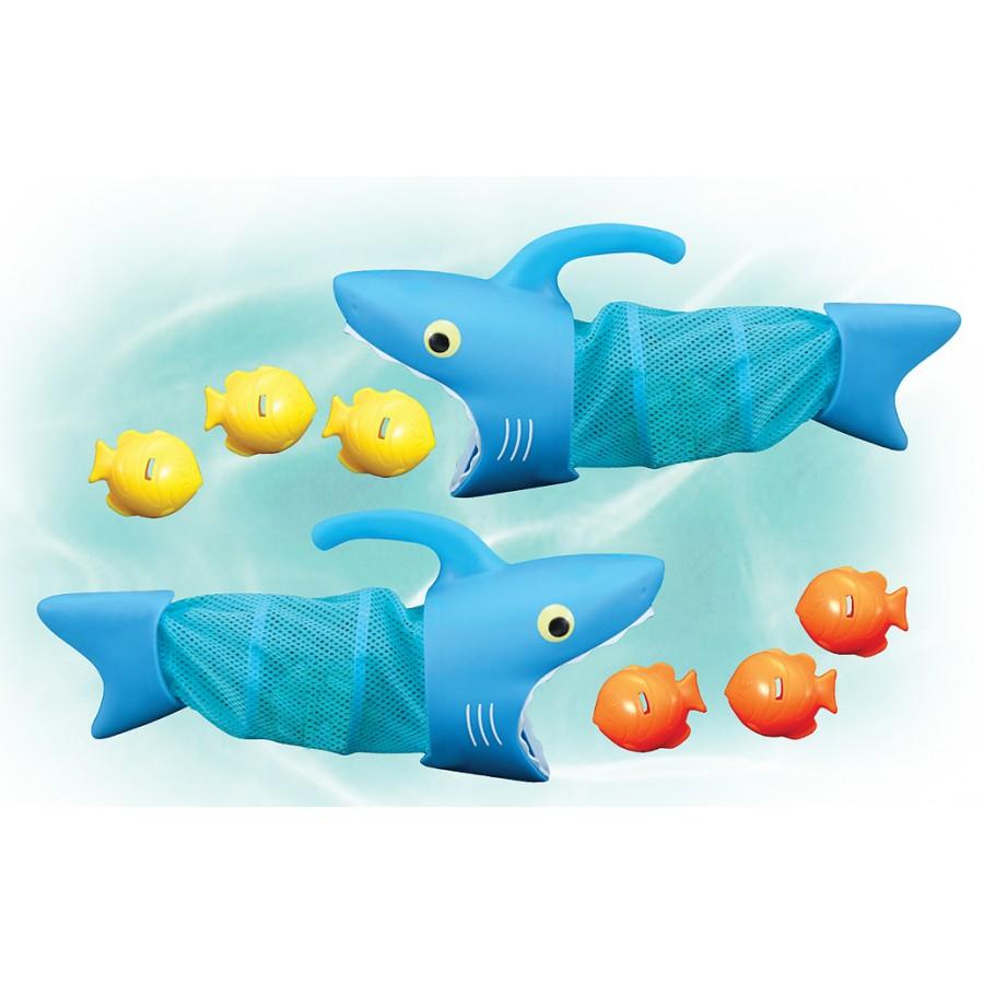jeu de piscine requins chasseurs de poissons jeux julie jouets jouet vacances dans le sud. Black Bedroom Furniture Sets. Home Design Ideas