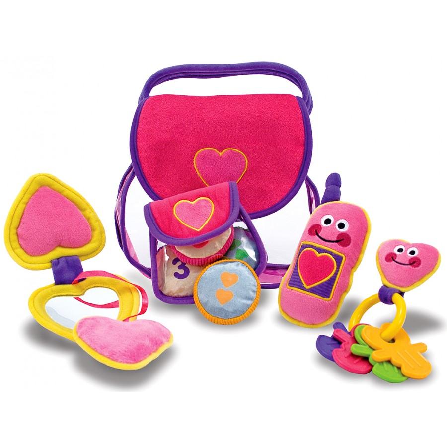 f05c52fa12b0 Joli sac à main rose, remplir, vider, jouet, bébé, melissa-doug-jeux ...