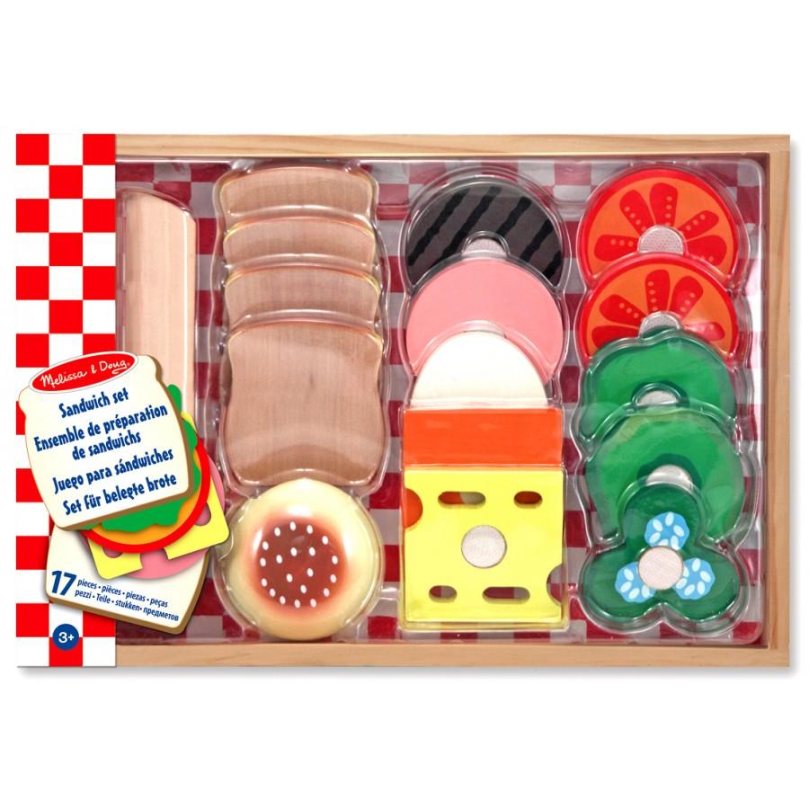 ensemble de pr 233 paration de sandwiches jouets enfants cpe garderie nourriture bois l 233 gumes