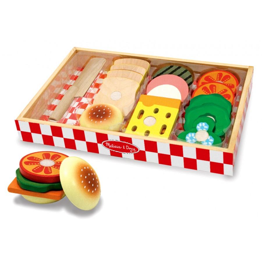 Ensemble de pr paration de sandwiches jouets enfants cpe garderie nourriture bois l gumes - Jeux enfant cuisine ...