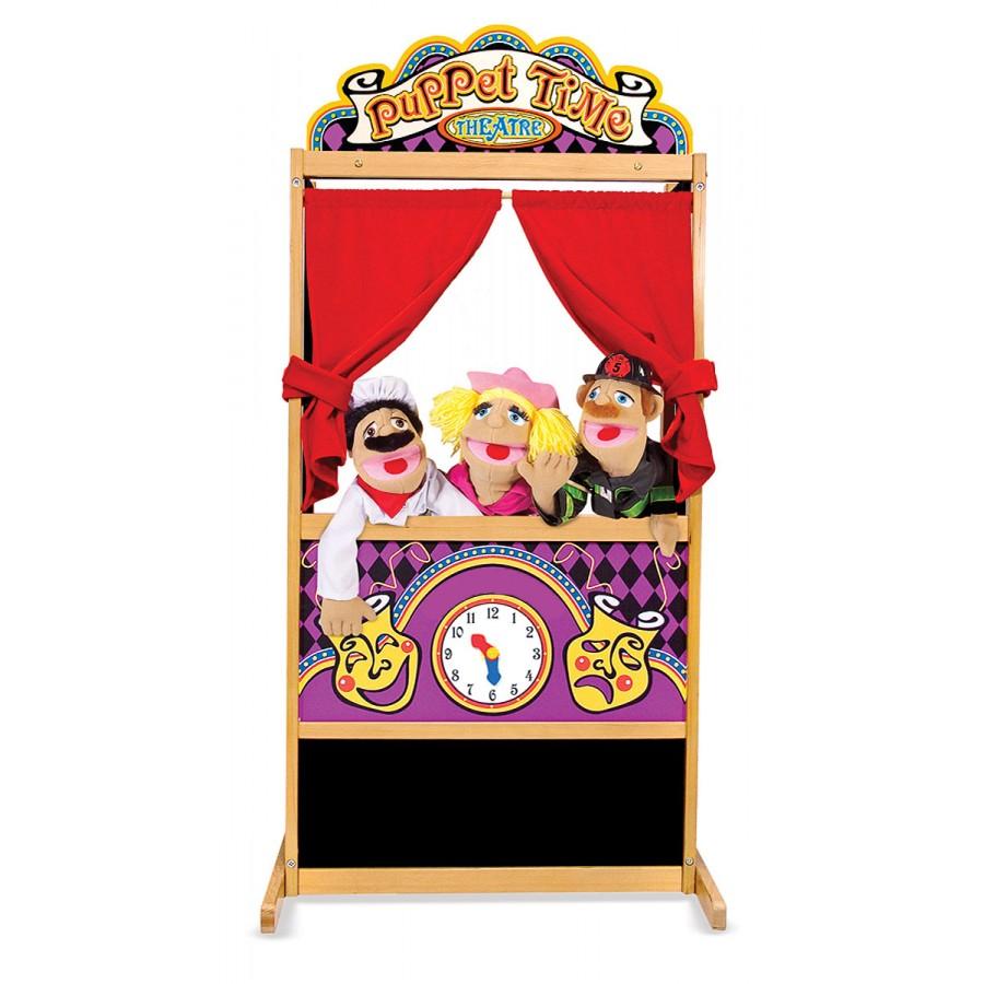 Th tre de marionnettes en bois avec rideaux melissa - Fabriquer un theatre de marionnettes en bois ...