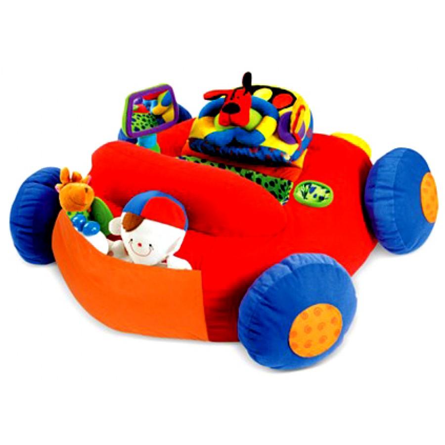voiture d 39 activit s coussin e voiture rouge beigne. Black Bedroom Furniture Sets. Home Design Ideas