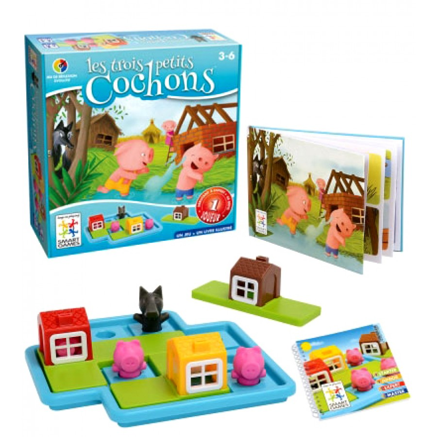 les trois petits cochons jeu volutif recommand protegez vous 2017 smart games smartgames. Black Bedroom Furniture Sets. Home Design Ideas