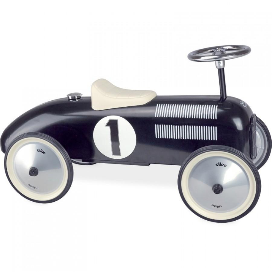 ride on racer dark blue vilac metal race car walker. Black Bedroom Furniture Sets. Home Design Ideas