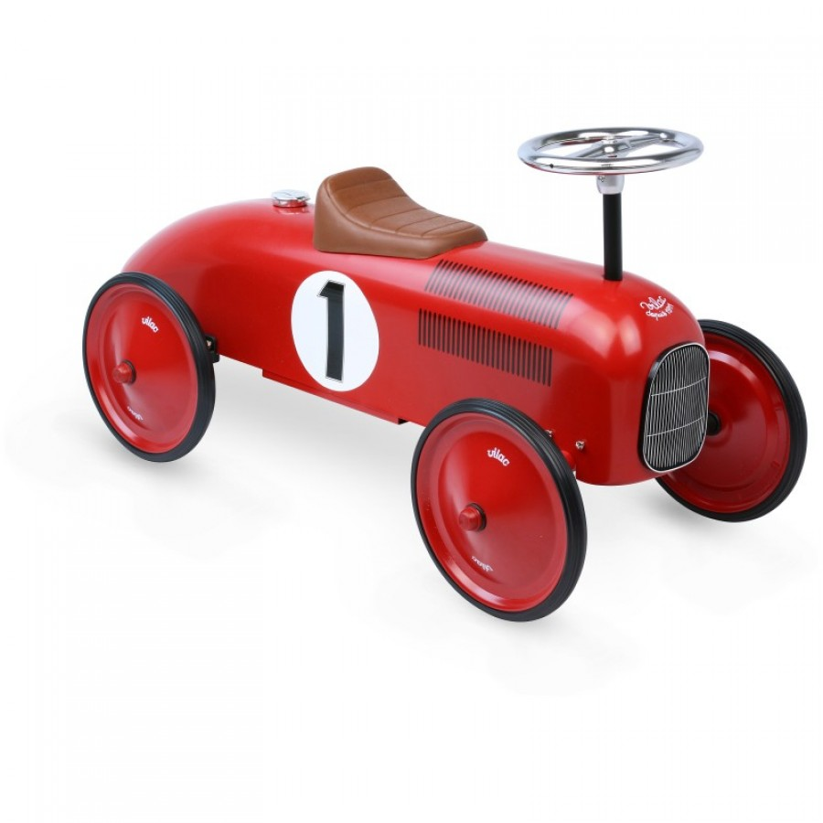 porteur rouge vintage en m tal petite voiture enfants b b s gar on vilac trottinette. Black Bedroom Furniture Sets. Home Design Ideas