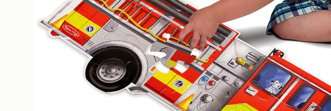 firefighter truck fire kids play puzzle enfants garcons jeu jouets 2 3 4 ans idee cadeau fete 1